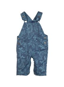 Pumpkin Patch Boys Leaf Print Dungaree