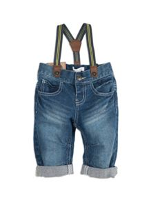 Pumpkin Patch Boys Banana Leg Jean With Braces