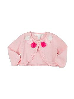 Girls Flutter Flower Cardigan
