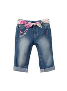 Pumpkin Patch Girls Embroidered 3/4 Capri