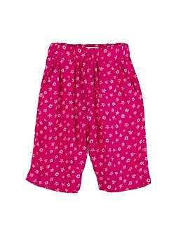 Girls Floral Elasticated Pants