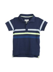 Pumpkin Patch Stripe Sleeve Polo Top