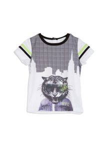 Pumpkin Patch Boys Tiger Hem Print Tee
