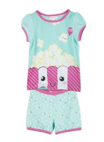 Pumpkin Patch Girls Popcorn PJ Set