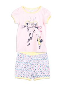 Pumpkin Patch Girls Giraffe Print PJ Set