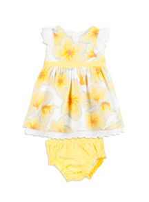 Pumpkin Patch Girls Bow Dress with Knickers