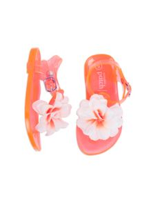 Pumpkin Patch Girls Flower Jelly Sandal