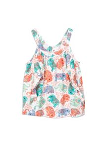 Pumpkin Patch Girls Elephant Print Top