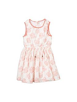 Girls Tile Print Dress