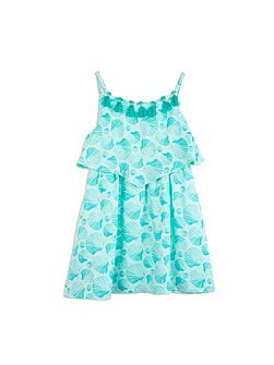 Girls Shell Print Dress