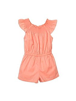 Girls Embroidery Anglaise jumpsuit