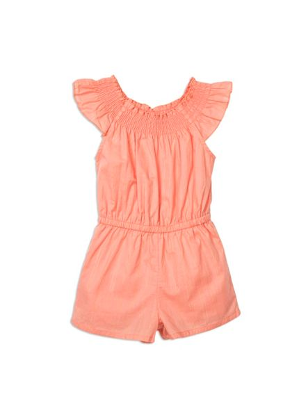Pumpkin Patch Girls Embroidery Anglaise jumpsuit