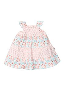 Pumpkin Patch Girls Tile Print Tiered Dress