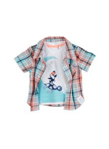 Pumpkin Patch Boys Mock Toucan Check Shirt