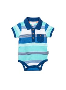 Pumpkin Patch Boys Stripe Polo Bodysuit