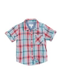 Pumpkin Patch Boys Checked Slub Shirt