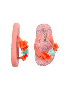 Pumpkin Patch Girls Sparkle Flower Jandal