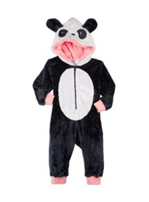 Pumpkin Patch Fluffy Panda All-in-One