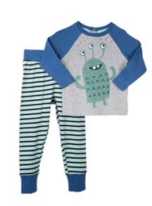 Pumpkin Patch Snug Alien PJ Set