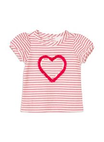 Pumpkin Patch Sequin Heart Stripe Top