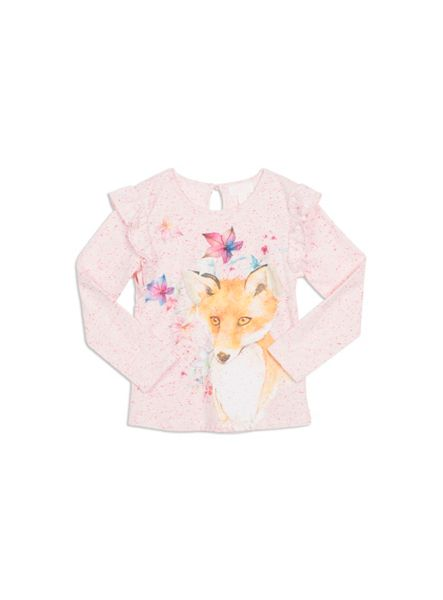Pumpkin Patch Fox Print Top