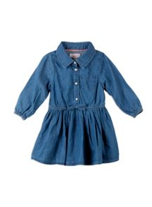 Pumpkin Patch Denim Shirt Dress
