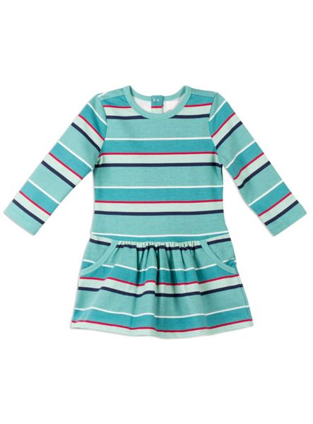 Pumpkin Patch Stripe Fleece Dress