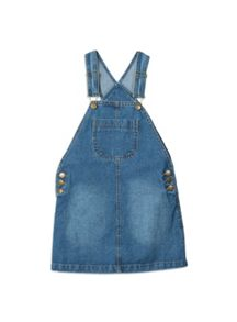 Pumpkin Patch Denim Pinafore Dress