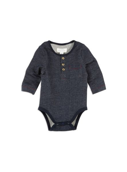Pumpkin Patch Denim Knit Bodysuit