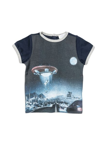 Pumpkin Patch Space Ringer Print Tee