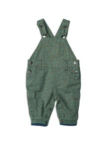 Pumpkin Patch Truck Allover Print Dungarees