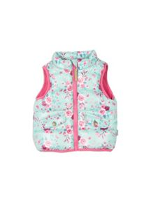 Pumpkin Patch Floral Puffer Vest