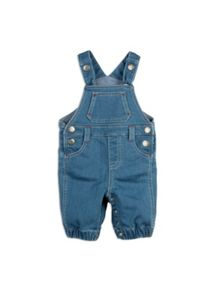 Pumpkin Patch Knit Denim Dungarees