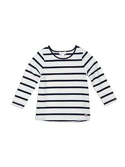 Stripe Crew Neck Longsleeve Top