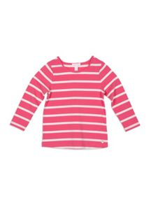 Pumpkin Patch Stripe Crew Neck Longsleeve Top