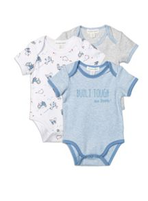 Pumpkin Patch 3pk Tractor Bodysuits