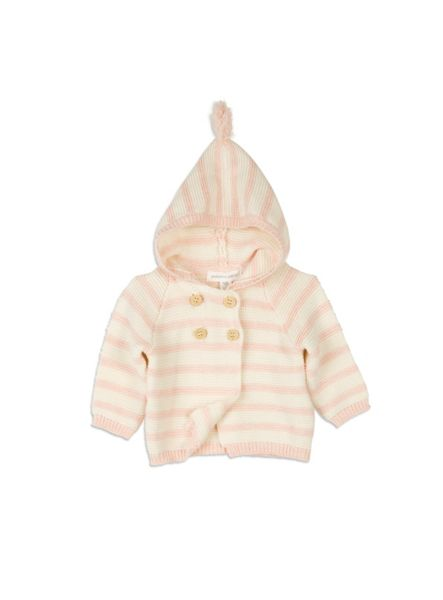 Pumpkin Patch Hooded Stripe Cardi