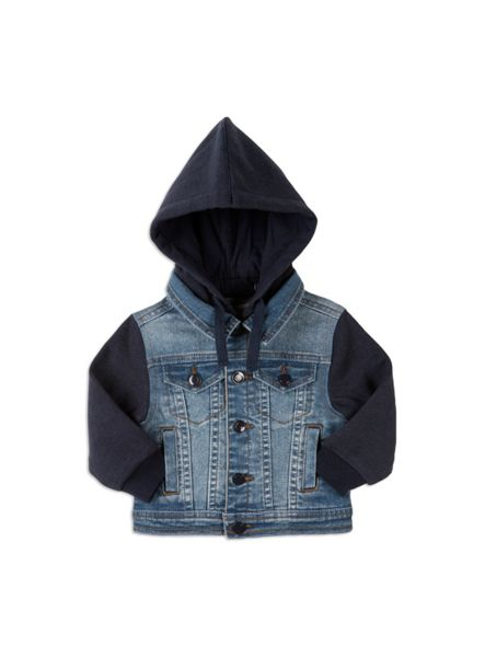 Pumpkin Patch Hooded Denim Jacket