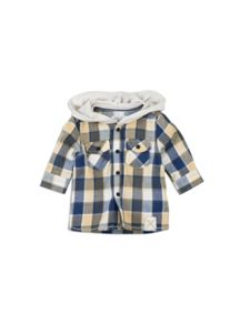 Pumpkin Patch Hooded Check Shirt
