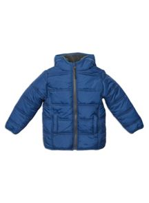 Pumpkin Patch Zip Through Puffer Jacket