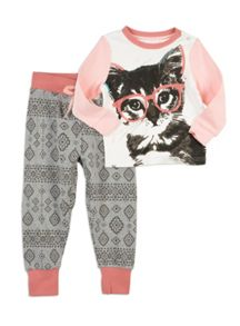 Pumpkin Patch Cat Face Slim Sleep Set