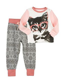 Cat Face Slim Sleep Set