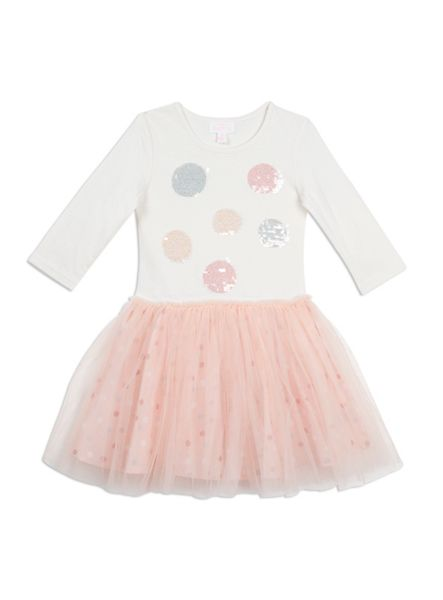 Pumpkin Patch Sequin Spot Tulle Dress