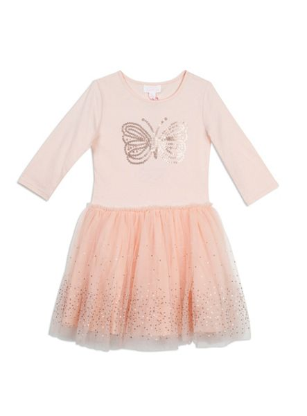 Pumpkin Patch Sequin Butterfly Tulle Dress