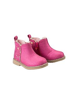 Girls Foil Ankle Boot