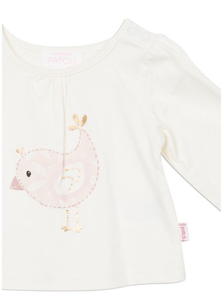 Pumpkin Patch Bird Long Sleeve Top