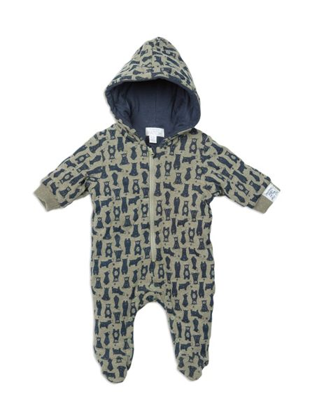 Pumpkin Patch Bear Print Padded All In One