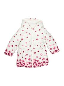 Pumpkin Patch Border Print Padded Jacket