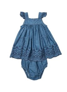 Pumpkin Patch Girls W/S Chambray Dress