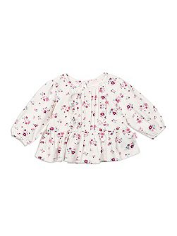 Mini Floral Ruffle Top